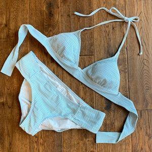 J. Crew Seersucker Bikini Set - Size M